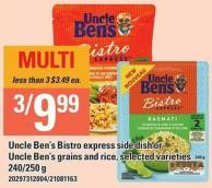 Uncle Ben's Bistro Express Side Dish Or Uncle Ben's Grains And Rice - 240/250