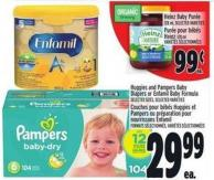 Huggies And Pampers Baby Diapers Or Enfamil Baby Formula Selected Sizes - Selected Varieties
