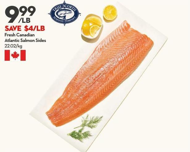 Fresh Canadian Atlantic Salmon Sides