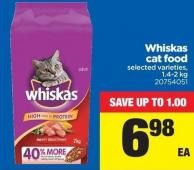 Whiskas Cat Food - 1.4-2 Kg