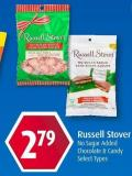 Russell Stover No Sugar Added Chocolate & Candy Select Types