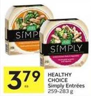 Healthy Choice Simply Entrées$
