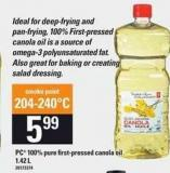 PC 100% Pure First-pressed Canola Oil - 1.42 L