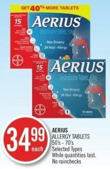 Aerius Allergy Tablets