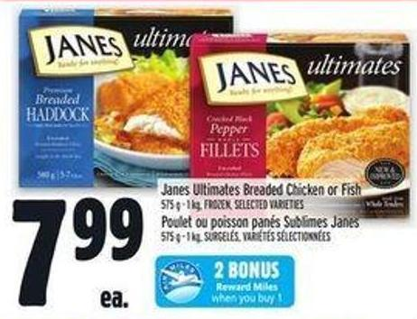 Janes Ultimates Breaded Chicken Or Fish