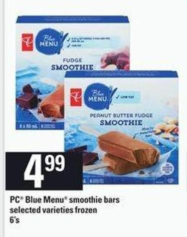 PC Blue Menu Smoothie Bars - 6's