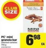 PC Mini Granola Bar - 745 g
