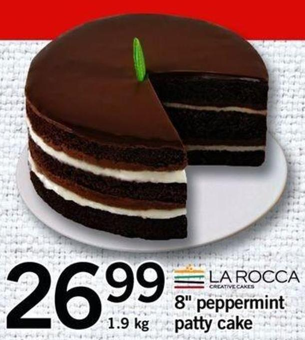 8in Peppermint Patty Cake - 1.9 Kg