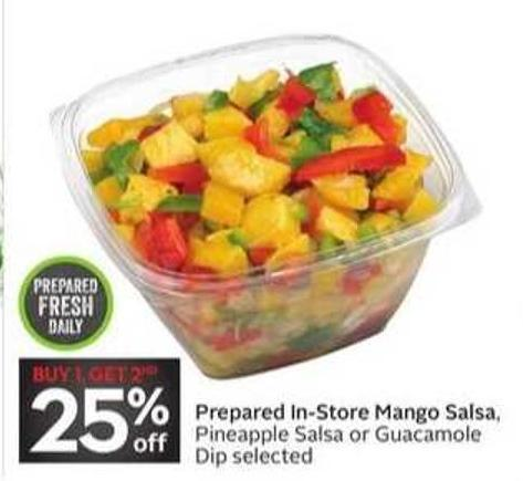 Prepared In-store Mango Salsa