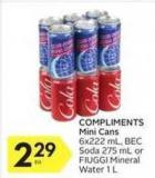 Compliments Mini Cans