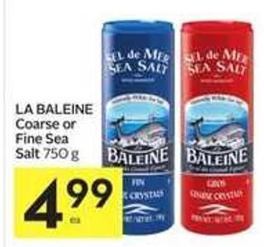 La Baleine Coarse or Fine Sea Salt
