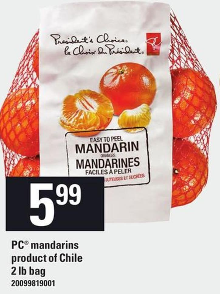 PC Mandarins - 2 Lb Bag