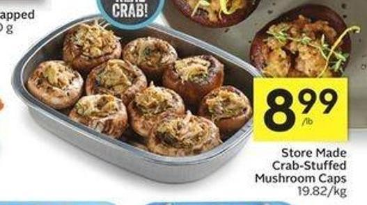Store Made Crab Stuffed Mushroom Caps