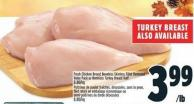 Fresh Chicken Breast Boneless Skinless Fillet Removed Value Pack Or Boneless Turkey Breast Half