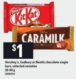 Hershey's - Cadbury Or Nestlé Chocolate Single Bars - 30-60 g
