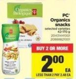 PC Organics Snacks - 42-170 g