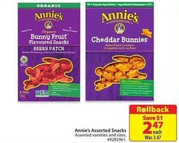 Annie's Assorted Snacks