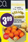 Seedless Oranges 8 Lb Case - Product of Spain 10 Lb Bag Yellow Potatoes