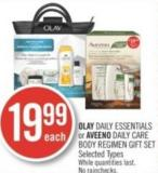 Olay Daily Essentials or Aveeno Daily Care Body Regimen Gift Set