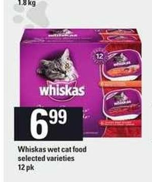 Whiskas Wet Cat Food - 12 Pk
