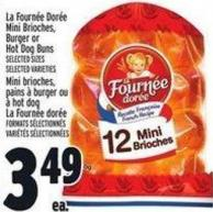 La Fournée Dorée Mini Brioches - Burger Or Hot Dog Buns