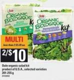 Dole Organic Salad Kit - 201-255 g