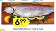 Fresh Whole Rainbow Trout