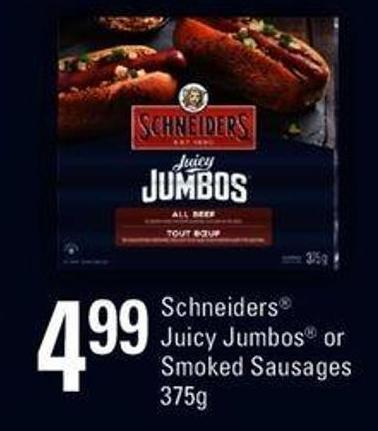 Schneiders Juicy Jumbos Or Smoked Sausages - 375g