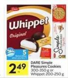 Dare Simple Pleasures Cookies - 5 Air Miles