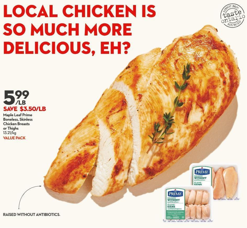 Maple Leaf Prime Boneless - Skinless Chicken