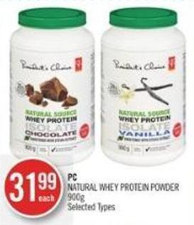 PC Natural Whey Protein Powder 900g