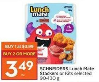 Schneiders Lunch Mate Stackers or Kits Selected 90-130 g