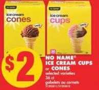 No Name Ice Cream Cups or Cones - 36 Ct