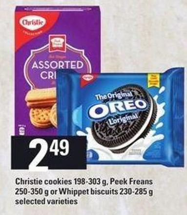Christie Cookies 198-303 G - Peek Freans 250-350 G Or Whippet Biscuits 230-285 G