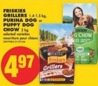 Friskies Grillers - 1.4-1.5 Kg - Purina Dog or Puppy Dog Chow - 2 Kg