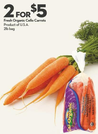 Fresh Organic Cello Carrots