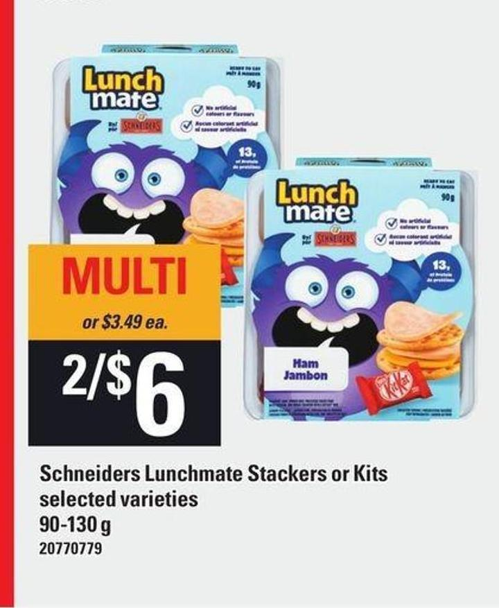 Lunch Mate Schneiders Lunchmate Stackers Or Kits - 90-130 g