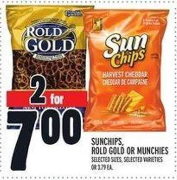 Sunchips - Rold Gold Or Munchies