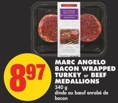 Marc Angelo Bacon Wrapped Turkey or Beef Medallions - 340 g