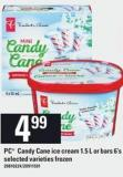 PC Candy Cane Ice Cream 1.5 L Or Bars - 6's