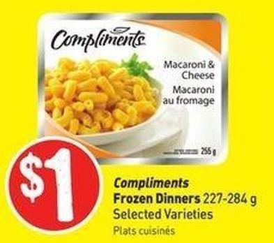 Compliments Frozen Dinners 227-284 g Selected Varieties