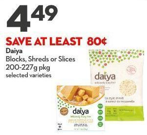 Daiya Blocks - Shreds or Slices 200-227g Pkg
