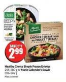 Healthy Choice Simply Frozen Entrées 255-280 g or Marie Callender's Bowls 326-349 g