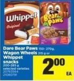 Dare Bear Paws - 150- 270g Wagon Wheels - 315 G Or Whippet Snacks - 200-285 G