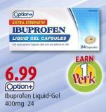 Option+ Ibuprofen Liquid-gel 400mg 24
