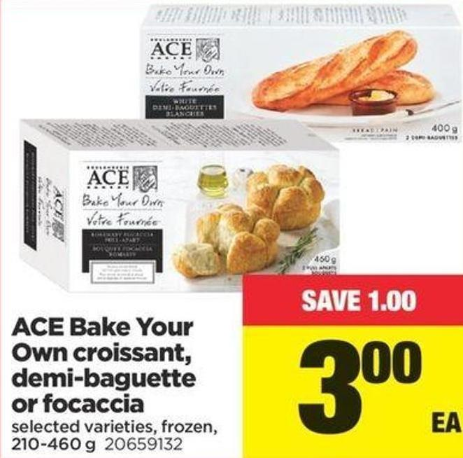 Ace Bake Your Own Croissant - Demi‑baguette Or Focaccia - 210-460 G