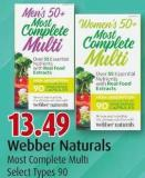 Webber Naturals Most Complete Multi Select Types 90