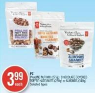 PC Praline Nut Mix (275g) - Chocolate Covered Toffee Hazelnuts (250g) or Almonds (340g)