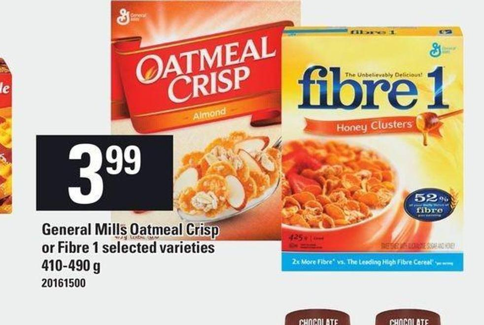 General Mills Oatmeal Crisp Or Fibre 1 - 410-490 g
