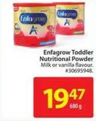 Enfagrow Toddler Nutritional Powder Milk or Vanilla Flavour
